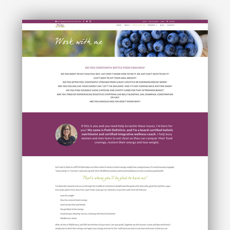 Worthy Nutrition Website