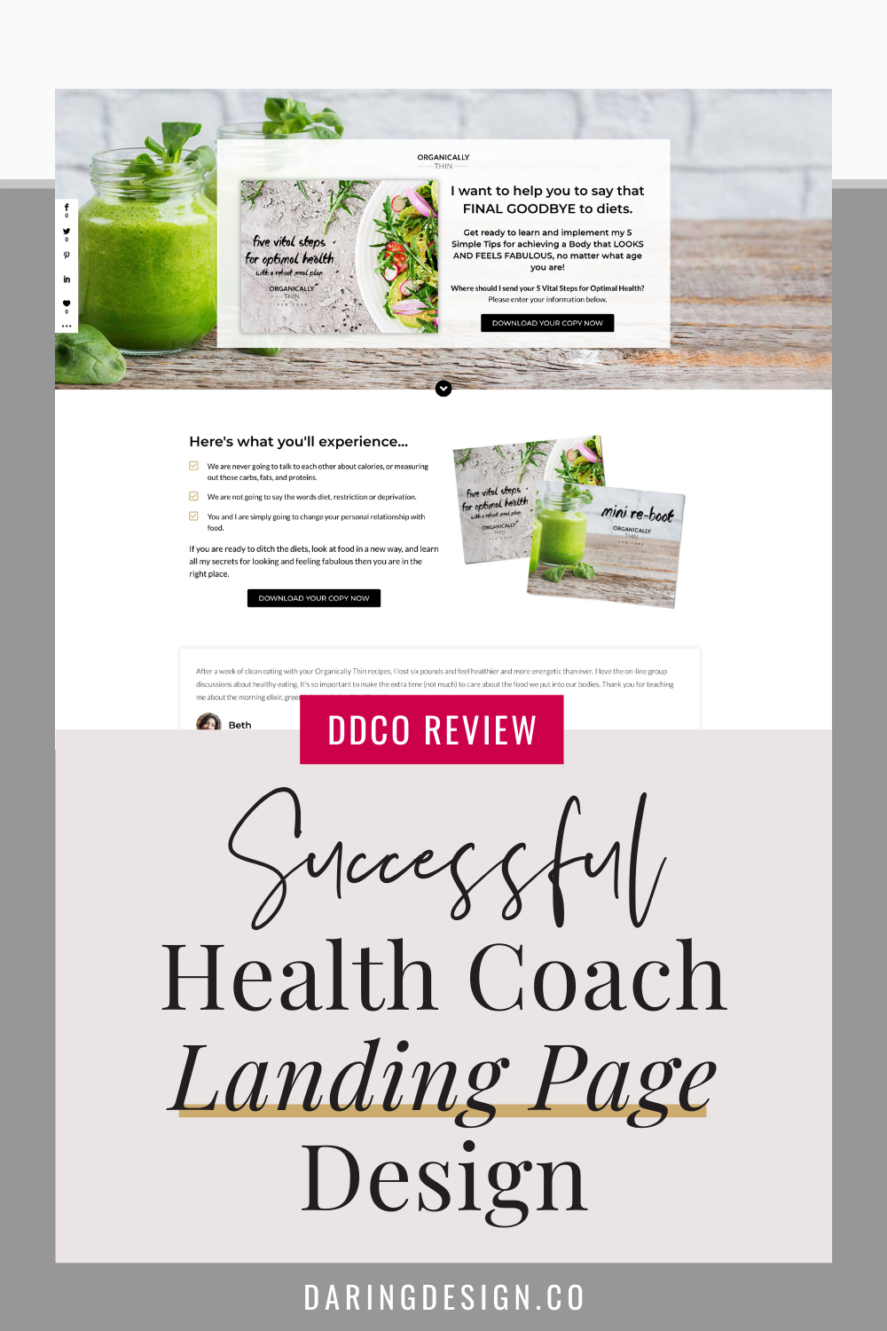Organically Thin Beautiful Freebie Page Review