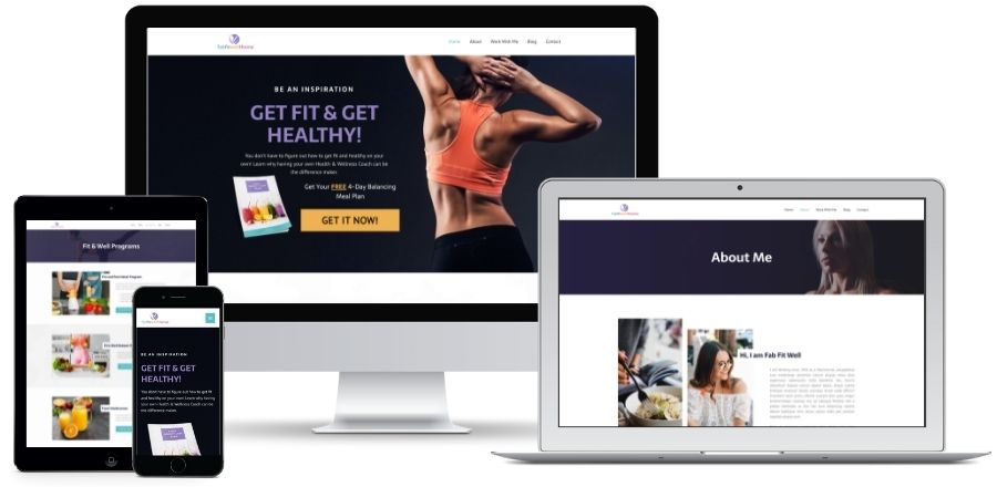 FabFitWell Done For You Websites for Health & Wellness Coaches