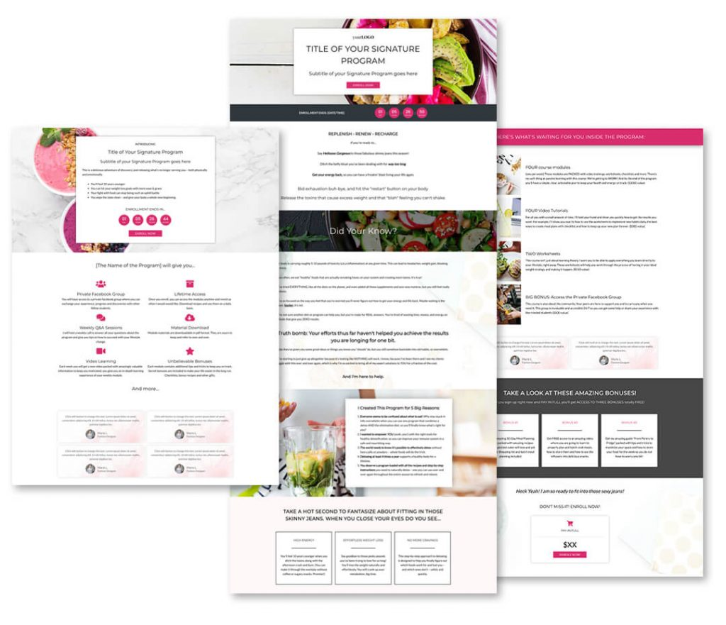 Done For You Websites for Health & Wellness Coaches
